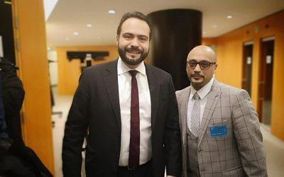 يوسف عبد القادر، عضو المركز الأوروبي يلتقي نائب رئيس البرلمان الأوروبى في بروكسل